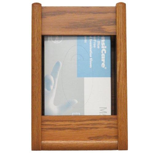 DMD Medical Glove and Tissue Box Holder, Wall Mount, 1 Pocket, Rectangle, Medium Oak Wood Finish …