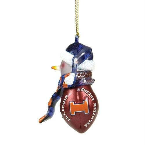 2.75' Fan (NCAA 2.75' Striped Acrylic Snowman Football Ornament - Boise State (Set of 2) NCAA Team: Illinois)
