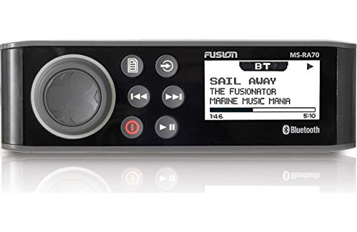 Fusion MS-RA70 Stereo with 4x50W AM/FM/Bluetooth 2-Zone USB Wireless Control for Fusion Link App ()