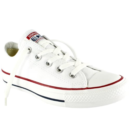 Womens Converse All Star Low Top Chuck Taylor Chucks Trainers - White Mono - 11