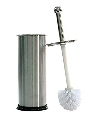 DINY Home Collection Stainless Steel Toilet Brush With Holder and Drip Cup