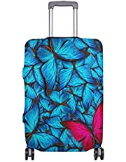 Mydaily Beautiful Butterfly Luggage Cover Fits 18-32 Inch Suitcase Spandex Travel Protector