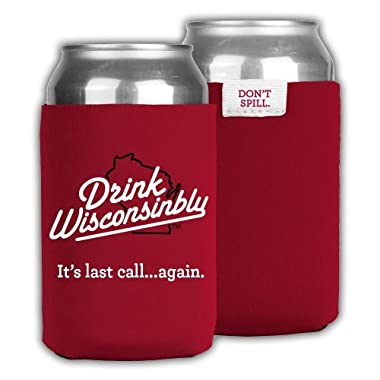Drink Wisconsinbly Red Can Cooler