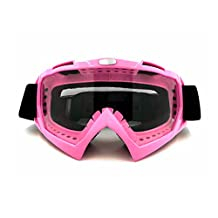 Dirt Bike Goggles Windproof Motocross Goggles, Dmeixs ATV Goggles, Adjustable Snowmobile Goggles, UV400 Offroad Goggles, Pliable and Tough Riding Goggles with Multifuntional Black Headwear