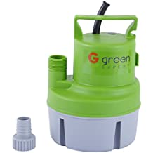 Green Expert 1/6 HP 203617 Portable Submersible Utility Pump for Clean Water Water Transfer Pump with 1056 GPH