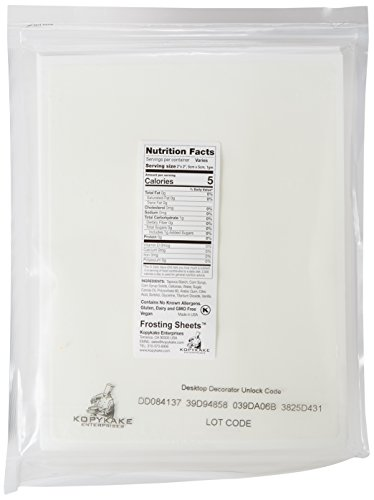 Kopykake FS0811 - T Frosting Sheets, 24 (Kopykake Frosting Sheets)