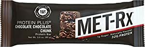 MET-Rx Protein Plus Chocolate Chocolate Chunk, 85 gram, 9 count