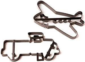 Amco Pancake Molds with Cut Out, Truck and Airplane, Set of 2