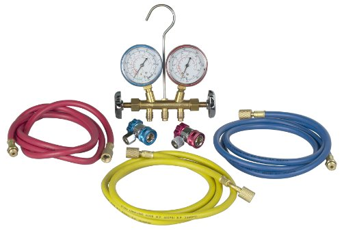 Robinair (48134A) R134 Brass Manifold, Hose Set and Service -