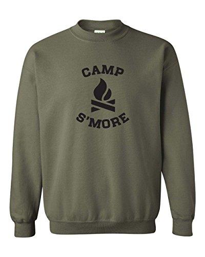 Camping S'More Camping Gear Summer Vacation Mens Womens Military Green Small (Verpackung Camping Liste)