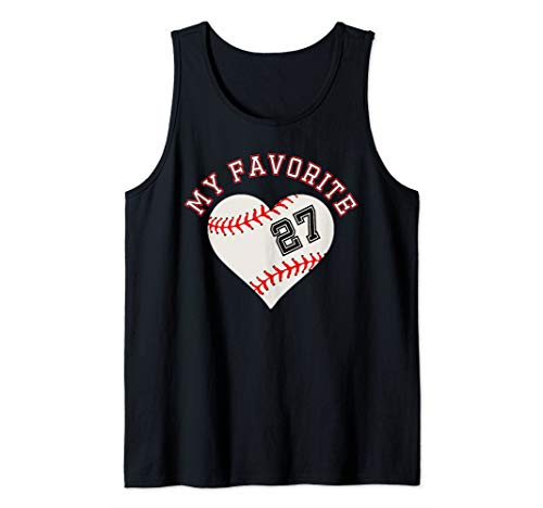 Baseball Player 27 Jersey Outfit No #27  Sports Fan Gift Tank -