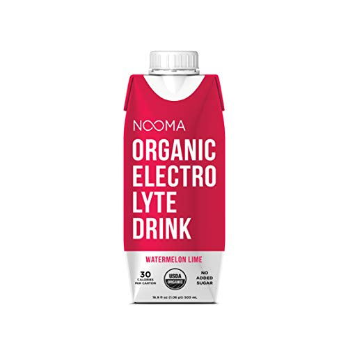 NOOMA Organic Electrolyte Sports Drink, Naturally Hydrating, Coconut Water Base, Certified Keto, Vegan, Gluten Free and More, No Added Sugar, 30 Calories, Watermelon Lime 16.9 Fl Oz, Pack of 12 1
