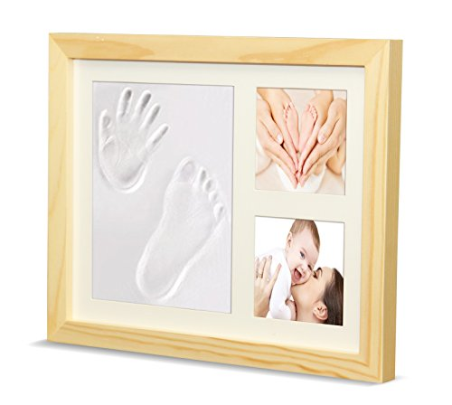 Timeless Newborn Baby Hand and Footprint Kit and Frame - Adorable Baby Keepsake Gift for New Moms, Dads, and Grandparents - Unique Baby Shower Gifts - Perfect for Baby Boy and Girl Room Decor by Ninos