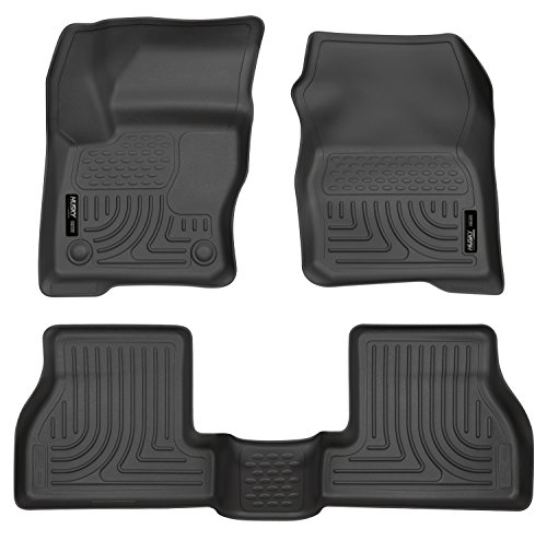 Husky Liners 98771 Black Weatherbeater Front & 2nd Seat Floor Liners Fits 2012-2016 Ford Focus