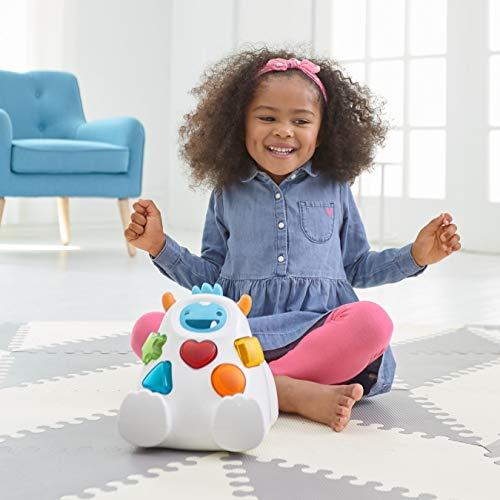 41lKAPj2lWL - Skip Hop Yeti Shape Sorter Explore & More 3-Stage Spinning & Sorting Developmental Learning Toddler Toy