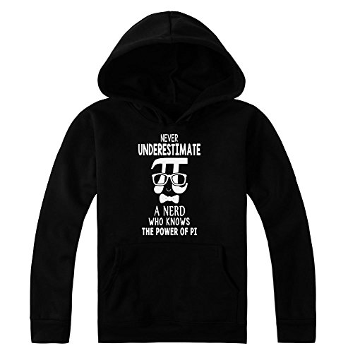 Never Underestimate Nerd Who Knows The Power Of PI Women's Hoodie Pullover