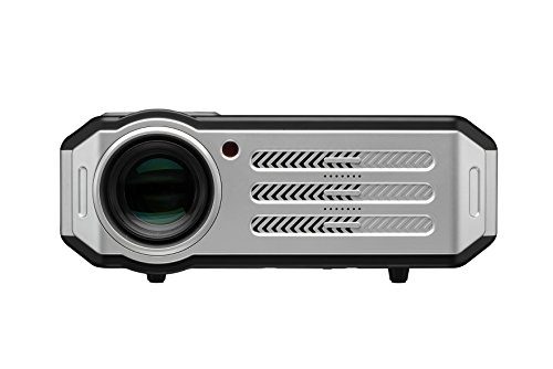 1080p LED Video Projector,Gzunelic 3600 lumens Full HD home Theater Proyector, Hi-Fi speakers built in,Adopt 6 Primary Colors Matrix HD imaging technology with 2 HDMI 2 USB VGA AV Audio Interfaces