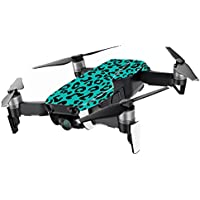 MightySkins Skin for DJI Mavic Air Drone - Teal Leopard | Min Coverage Protective, Durable, and Unique Vinyl Decal wrap cover | Easy To Apply, Remove, and Change Styles | Made in the USA