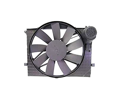 Mercedes-Benz Radiator Auxiliary Fan Assembly (Includes Shroud) CL500 CL55 AMG S430 S500 S55 AMG