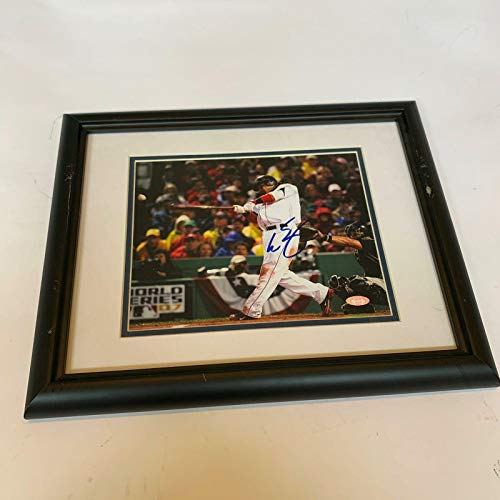 (Manny Ramirez Autographed Photo - 2007 World Series Framed COA - Steiner Sports Certified - Autographed MLB)