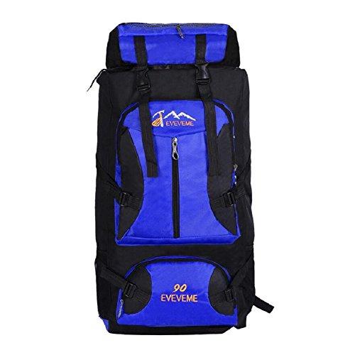 ZC&J Moda mochila universal de los hombres y las mujeres, cómodo ajustable, resistente al desgaste, anti-fouling, mochila de viaje de alta calidad, 56-75L mochila de gran capacidad de montaña,C,56-75L D