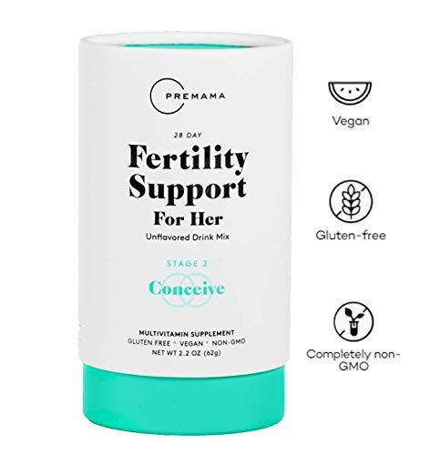 Premama Fertility Supplement Blend for Women - Myo Inositol Powder and Folate (28 Packets) Fertility Vitamins with Vitamin B12 to aid Conception, Prenatal Support and Healthy Pregnancy (Folic Acid To Get Pregnant With Twins)