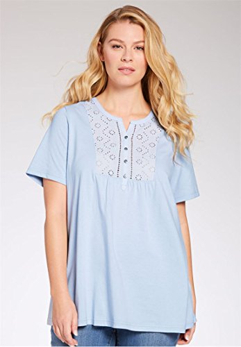 Womens-Plus-Size-Top-In-Soft-Knit-With-Eyelet-Embroidery