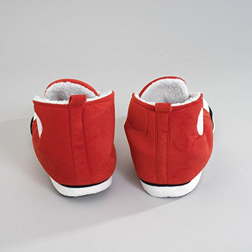 Retro Interior Hi Bits Pieces Plush Comfy Resistant Sole Red Warm Slip Sneaker and Top Slippers EVA qxYfv