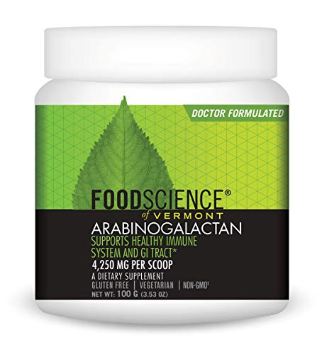 FoodScience of Vermont Arabinogalactan Powder, Immune and Digestive System Support, 3.53 -