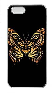 linJUN FENGDIY Skin Case for iphone 6 plus 5.5 inch Plastic Case Back Cover for iphone 6 plus 5.5 inch With Tiger Butterfly