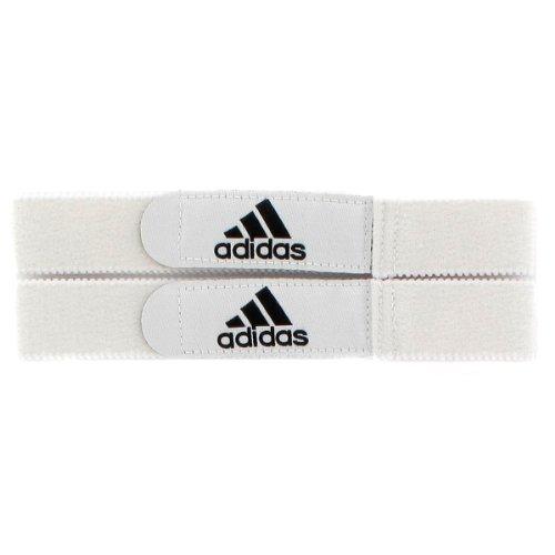 adidas Soccer Shin Guard Straps, White