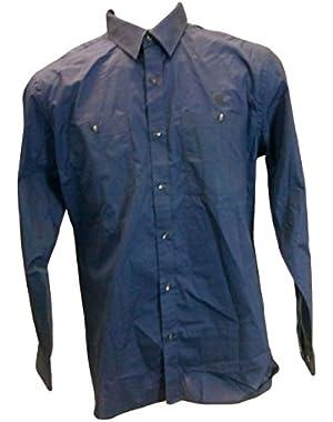 Men's New Long Sleeve Shirt, Blue, XX-Large