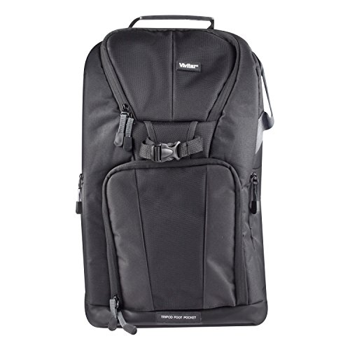 Vivitar DKS-25 Photo SLR Camera Laptop Sling Backpack - Large, Black