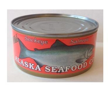 Canned Fresh Sockeye Salmon