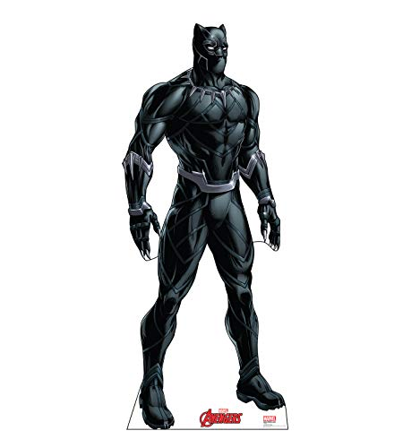 Advanced Graphics Black Panther Life Size Cardboard Cutout Standup - Marvels Avengers Animated