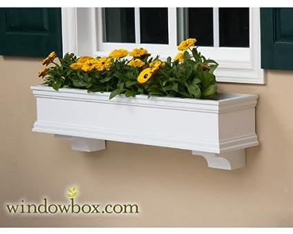 Amazon Com 48 Inch Lancaster No Rot Pvc Composite Flower Window