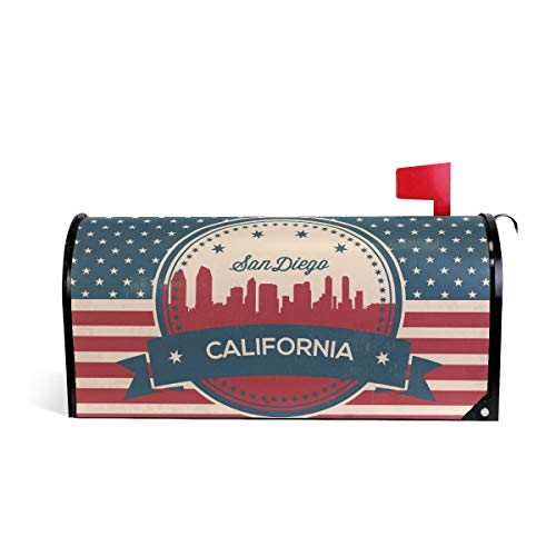 Printedin3D California San Diego Magnetic Mailbox Cover for US Standard Size