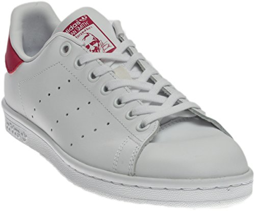 Price comparison product image adidas Originals Girls' Stan Smith J Shoe, White/White/Bold Pink, 5.5 M US Big Kid