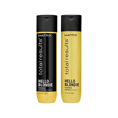 マトリックスの総結果ハローブロンディシャンプー(300ミリリットル)とコンディショナー(300ミリリットル) x2 - Matrix Total Results Hello Blondie Shampoo (300ml) And Conditioner (300ml) (Pack of 2) [並行輸入品] B071YPCDSP