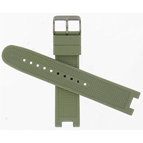 Swiss Army Night Vision Green Rubber Strap