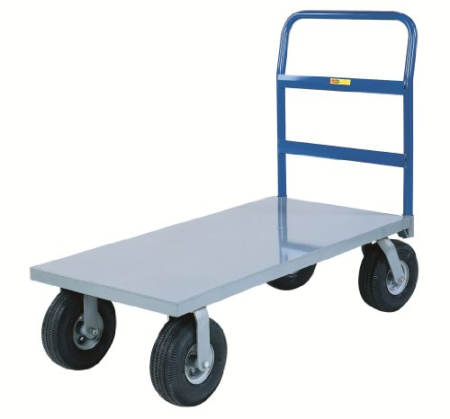 Little-Giant-NBB-3060-10P-Steel-Deck-Cushion-Load-Platform-Truck-with-10-Pneumatic-Wheels-1500-lbs-Capacity-60-Length-x-30-Width