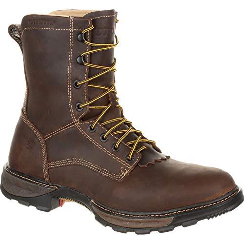 (Durango Men's Maverick XP Waterproof Lacer Work Boot, Brown, 8 W)