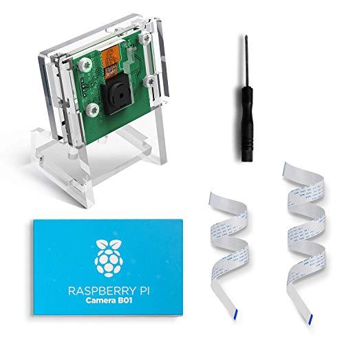 LABISTS Raspberry Pi Camera Module 1080P 5M Pixels OV5647 Sensor for Raspberry Pi 4 and Raspberry pi 3 B+ with Case Mount