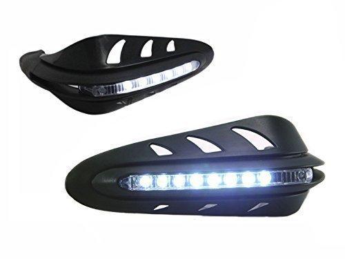 Guardamanos universales con luces de conducció n diurna integradas para motocicletas, quads Alchemy Parts Ltd