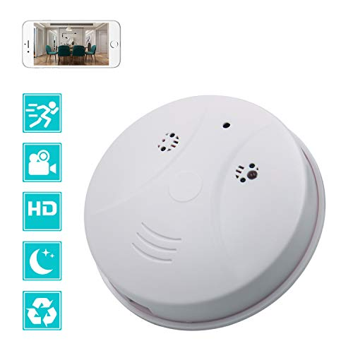 WiFi Hidden Spy Camera Smoke Detector Camera, CAMXSW 1080P HD Motion Detection Recording, Loop Video Recorder, Security Camera for Home and Office