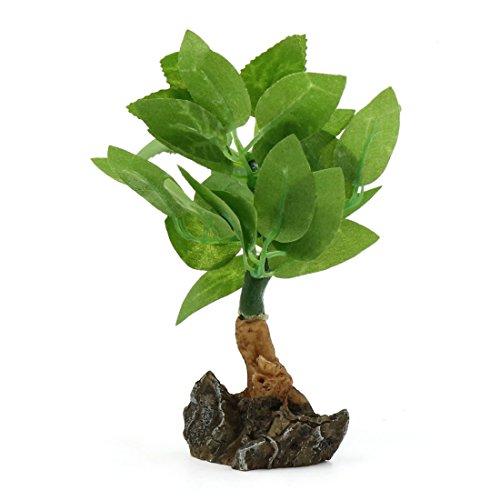 sourcingmap Verde realistiche in plastica Mini impianto decorativo Fsihb Gufo acqua Paesaggio casa decoro