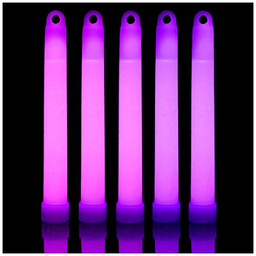 (Lumistick 6 Inch Glow Sticks Chem Lights with Flat Bottom | Premium Industrial Grade Glowstick Rods 15mm | NonToxic Great for Events, Parties, Camping and More (Purple, 200))