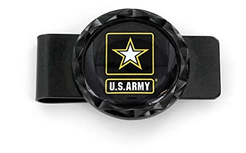 - aminco X-Games Army Black Diamond Cut Money Clip, Black, 5