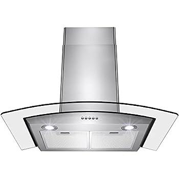 Amazon.com: AKDY campana de 30 pulgadas con LED y panel de ...