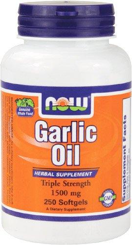 Now Foods Garlic Oil 1500 mg, 250 soft-gels